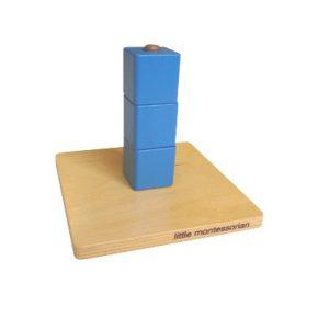 木釘上的立方體